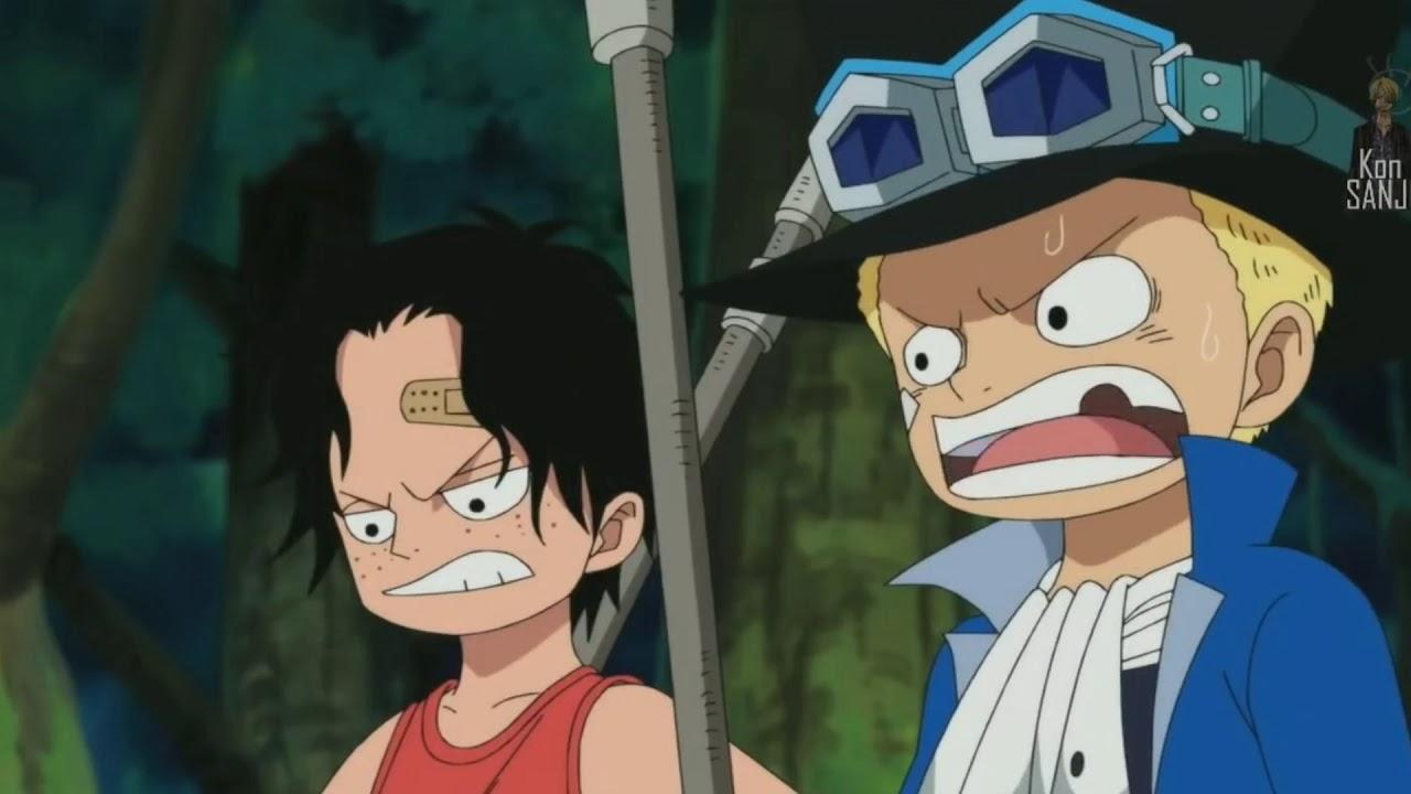 لوفي وهو صغير One Piece مدبلج للعربية Youtube