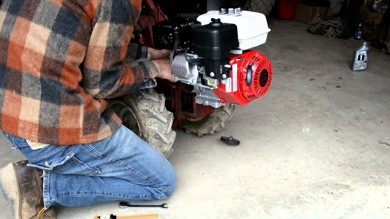 Upgrading A Troy Bilt Rototiller With A New Honda Engine
