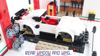 Porsche 911 RSR. LEGO Speed Champions 75888. Speed build in Ultimate Garage.