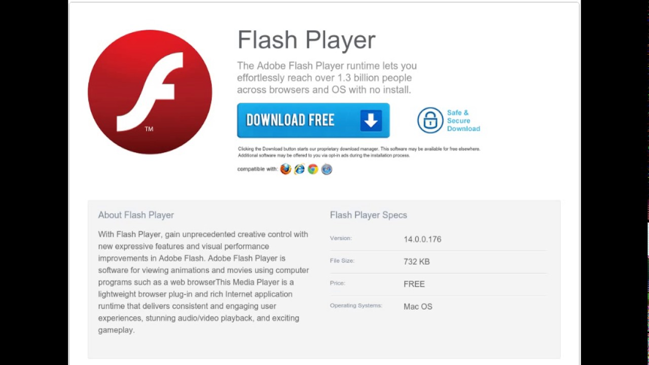 flash player update failed mac