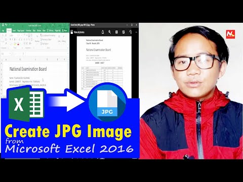 How To Create Jpg Image From Microsoft Excel || Convert Word Doc To Jpeg
