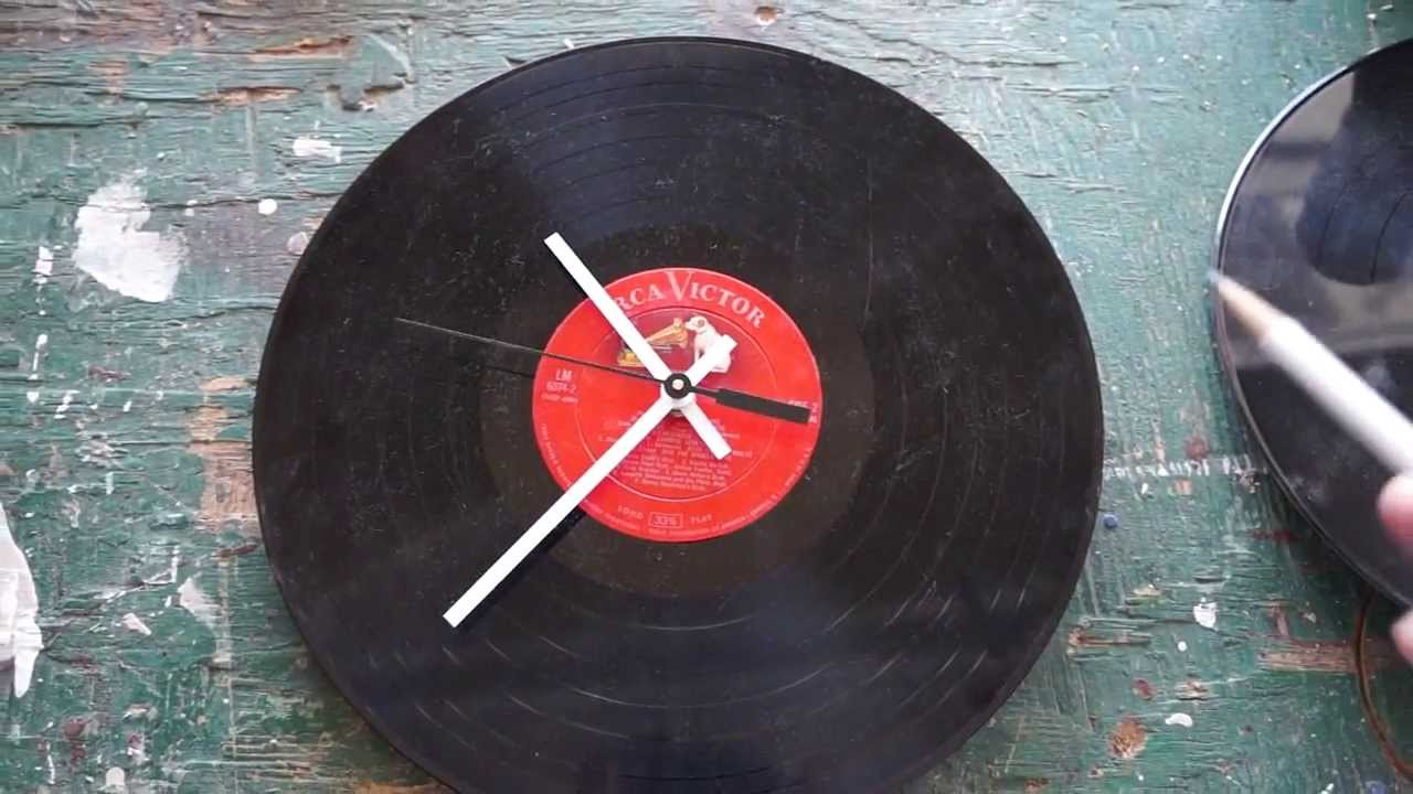 How To Make A Vinyl Record Wall Clock Youtube