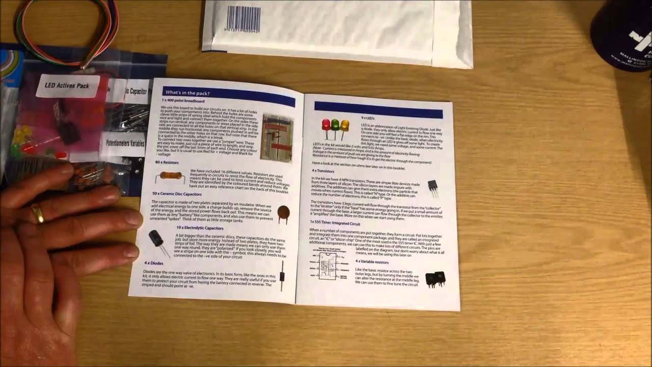 The Electronic Project Starter Kit - YouTube