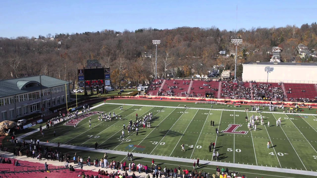 Time Lapse Video Of Fisher Stadium For Lafayette Lehigh Football Youtube
