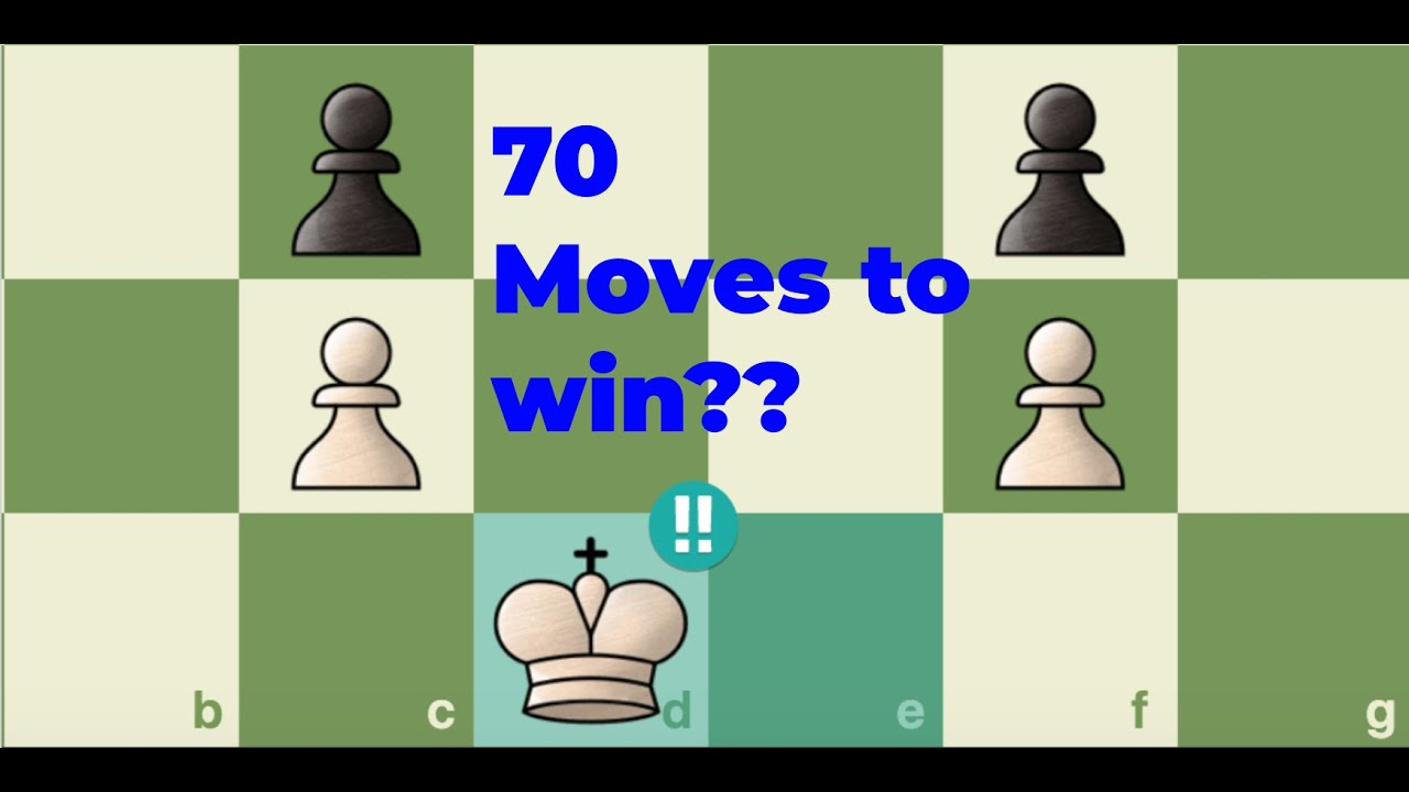 A BRILLIANT Chess Puzzle that takes 70 moves to win?