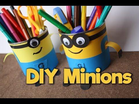 Как сделать поделку Миньон / How to make Minion / DIY - My Paper Quest