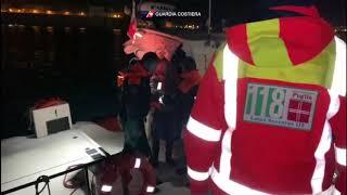 Otranto, diportista albanese alla deriva da ore salvato dalla Guardia costiera