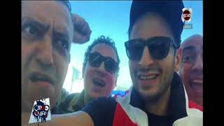 تامر بشير يعرض احتفال الفنان حماده هلال من أمريكا بعد وصول المنتخب الى المونديال -دوس بنزين