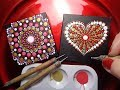 How To Paint Dot Mandalas Dollar Tree Valentines Day Gift EASY follow step by step Tutorial