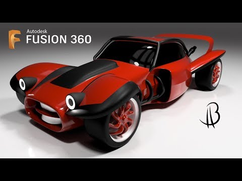 Car Design Speedrun 11 - Using Autodesk Fusion 360 - hotrod buggy