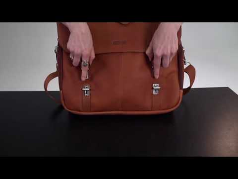 94757b176 Kenneth Cole Reaction Show Business - Colombian Leather Flapover Computer  Case - on eBags.com - YouTube