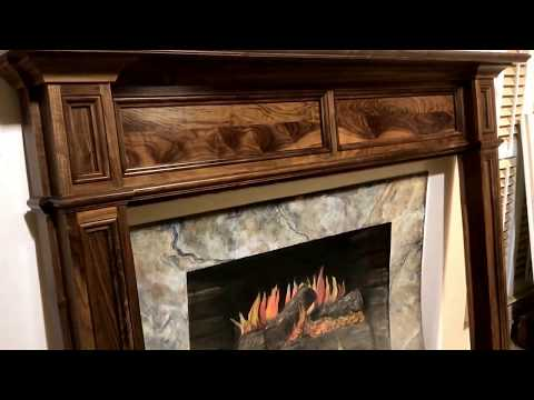 The New Jersey Mantel in Walnut with a tung oil finish