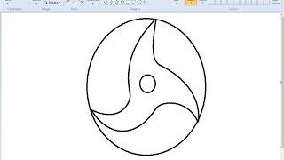 How to draw Uchiha Itachi's Mangekyou Sharingan on MS Paint