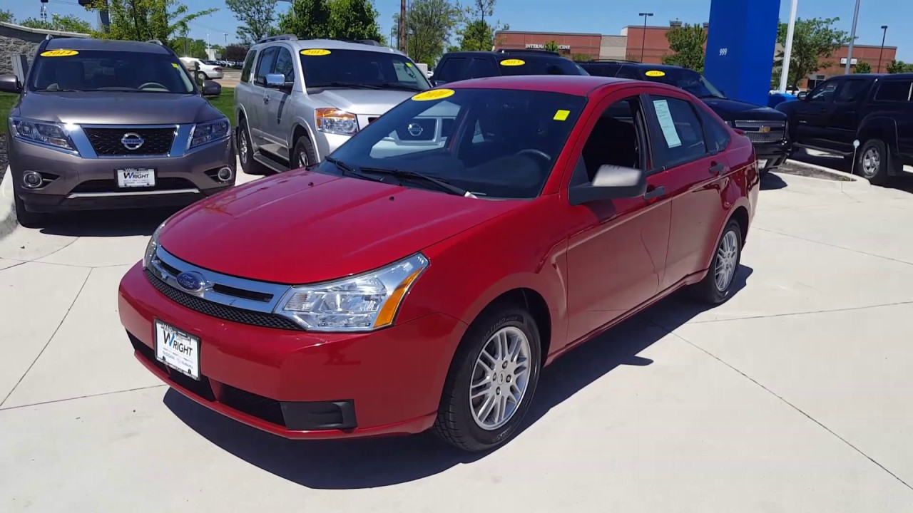 2010 ford focus se model in the candy apple red