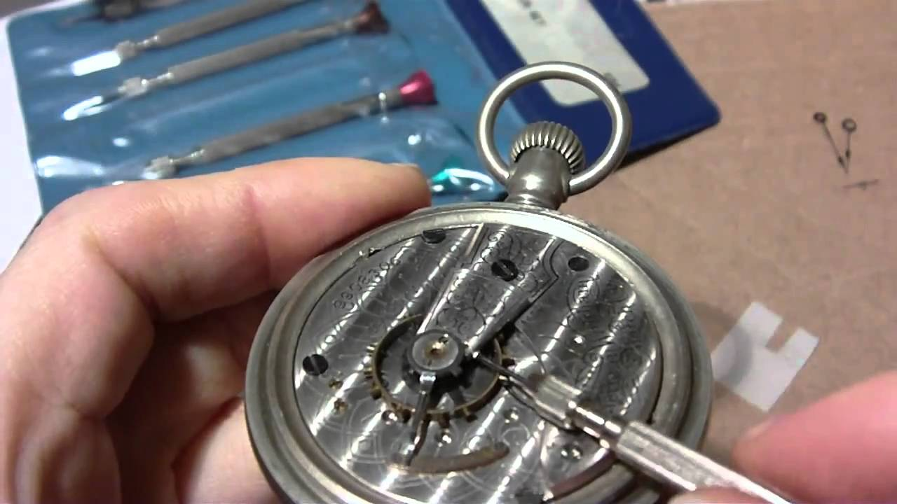 Taking apart a Waltham pocket watch, Part 1 of 2