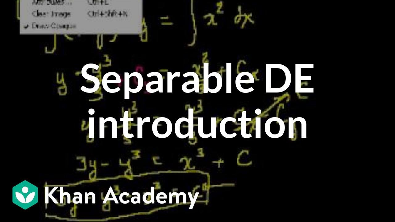 Separable equations (old) (video) | Khan Academy on university of texas at austin map, google map, new york times map, npr map, national geographic map, pinterest map, evernote map, brooks academy map, data map, cnn map, mit map, apple map, brown university map, lawrence academy map, uc berkeley map,