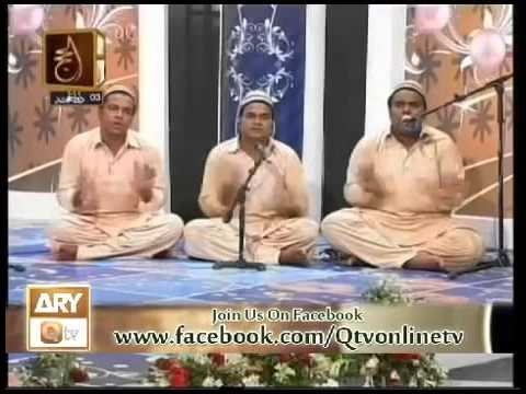 Main Gadaye Dar hon Tera By Qawwal Tahir Ali Mahir Ali Shakir Ali Nizami on ARY Q TV Pak.