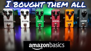 Every Amazon Basics Guitar Pedal - I wanted to hate them...