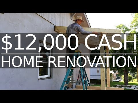 $12,000 CASH House! - Front Porch Roof Framing - #35