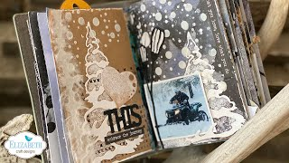 Winter February 2021 Art Journal Pages with Els | Facebook LIVE
