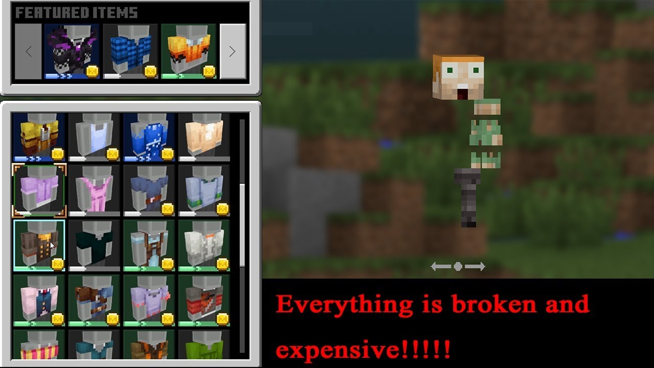 Minecraft Bedrock Edition New 1 13 Skin Editor Update Is Awful Youtube