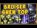 1v9 TRIFORCE BRUISER SHEN IS ACTUALLY TOO BUSTED! SHEN SEASON 9 TOP GAMEPLAY! - League of Legends