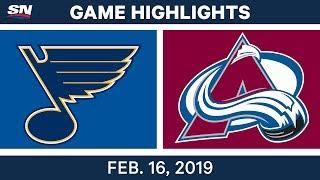 NHL Highlights | Blues vs. Avalanche - Feb 16, 2019