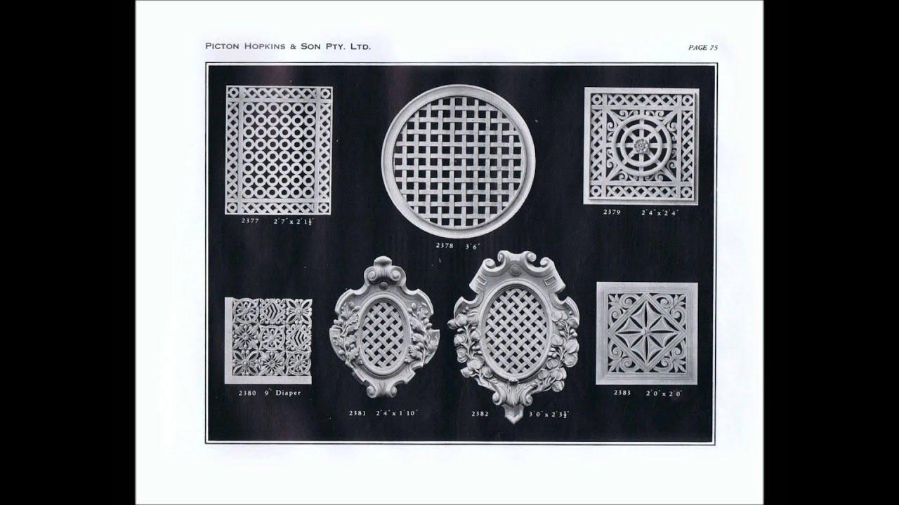 plastering picton hopkins richmond decorative plaster designs circa 1927 historical - Wall Plastering Designs