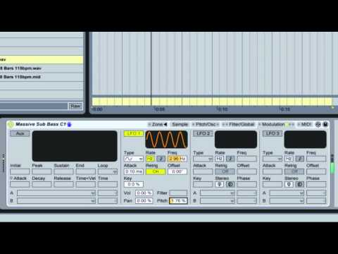 SUB BASS Secrets in Ableton SAMPLER Pt 2 of 2