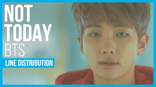 corrected video in description bts not today line distribution color coded