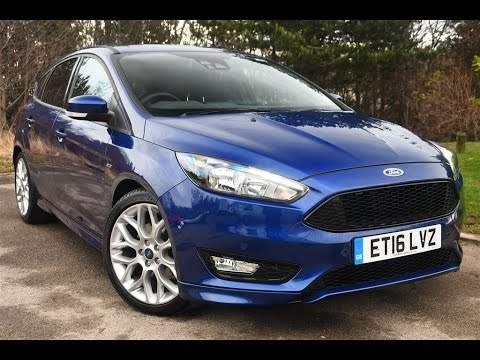Used Ford Focus 1 5 Ecoboost St Line 5dr Deep Impact Blue 2016