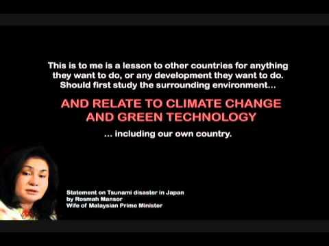 Rosmah Mansor on Tsunami, Climate Change and Green Technology