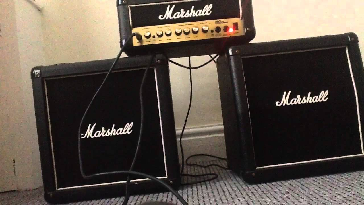 marshall half stack mini stack amp side by side demo bad guitar playing ibanez youtube. Black Bedroom Furniture Sets. Home Design Ideas