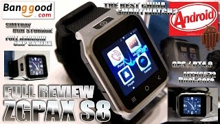 ZGPAX S8 [MEGA REVIEW] The BEST Android OS Smart Watch? - Video by s7yler