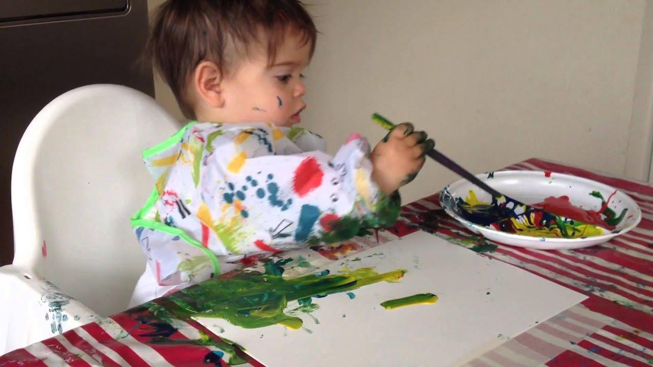 Tekenen en schilderen met jonge kinderen youtube - Schilderen kind jongen ...