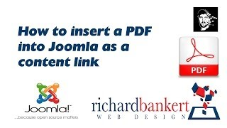 How to insert a PDF into Joomla as a content link