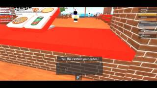 A day at the pizzeria (ROBLOX)