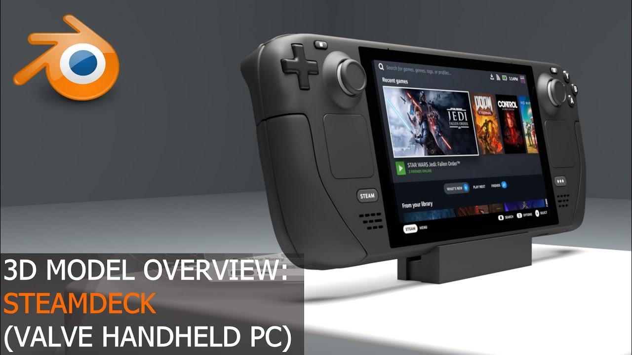 Steam Deck [Valve Handheld PC] - 3D Model Overview