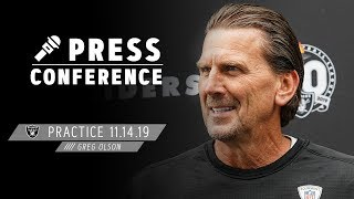 Coach Olson Discusses Confidence On Offense & Bengals' Front Seven   Raiders