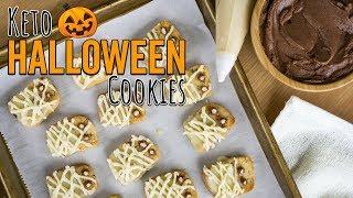 Keto Halloween Shortbread Cookies