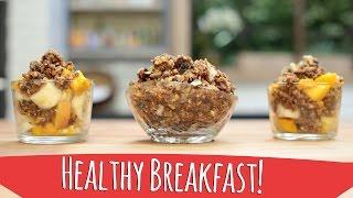 Easy And Healthy Breakfast ! Raw Vegan Granola