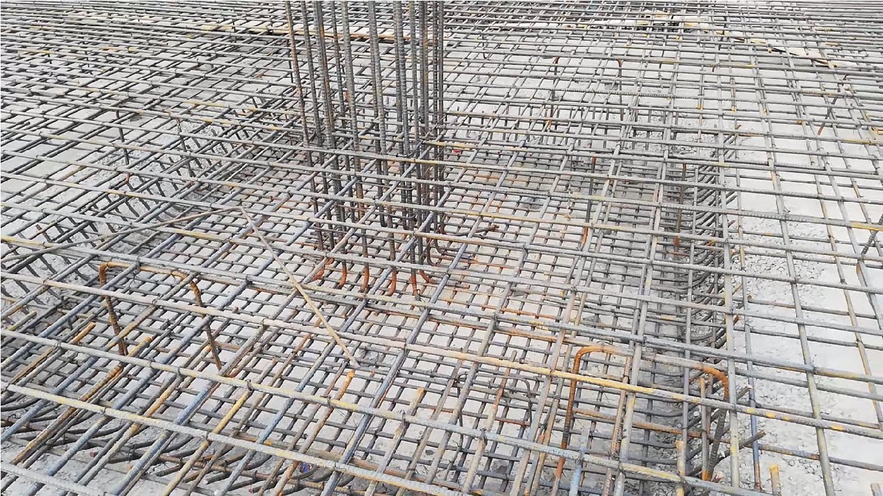Flat separate footing of column in mat foundation