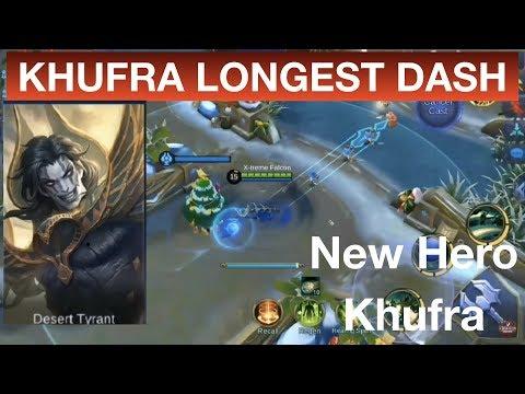 KHUFRA LONGEST DASH NEW HERO IN MOBILE LEGENDS