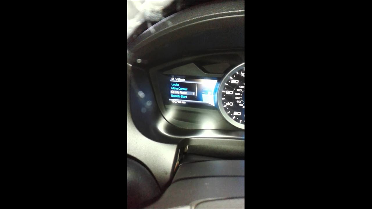 How To Reset Oil Change 2014 Ford Explorer