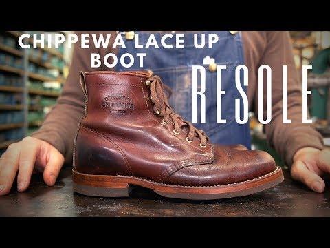 Chippewa Lace Up Boot Resole #40
