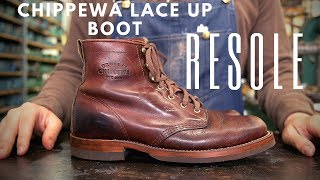 Chippewa Lace Up Boot Resole #40