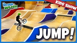 Boys get BMX bike jump lessons | River and Wilder Show