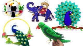 5 CREATIVE BIRDS WALLPIECE IDEAS FROM WASTE MATERIALS