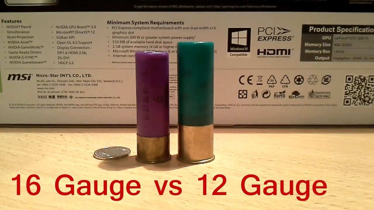 12 gauge vs 16 gauge | Size comparison - YouTube