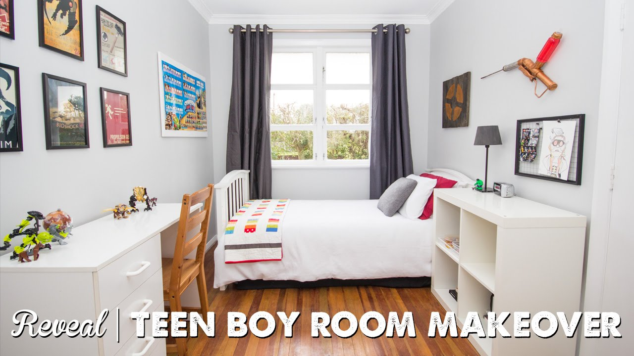 Teen Boy\'s Bedroom Makeover Reveal | A Thousand Words